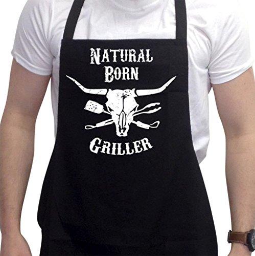 Lustige Grillschürze Neuheit Grillen Kochen Geschenke für Herren Natural Born Grillers
