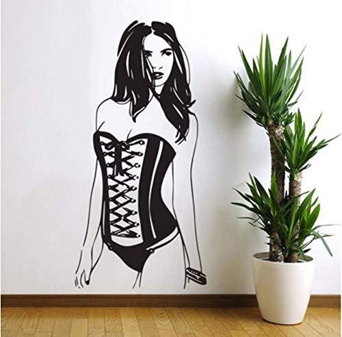 Mode Sexy Frauen Wandbilder Vinyl Pin Up Girl Wandtattoo Dekoration Kunst Schlafzimmer Selbstklebende Tapete ()