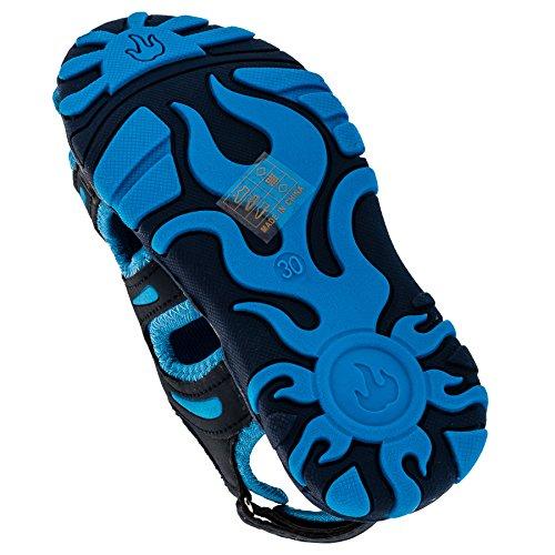 4couleurs garçon Trekking Sandales - #55bl Blau