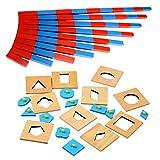 MagiDeal Holz Montessori Mini Numerische Stangen + Geometrische Peg Puzzle Kinder Pädagogisches Spielzeug Lehrspiel