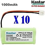 Kastar 10-PACK AAAX2 2.4V EH 1000mAh Ni-MH Rechargeable Battery For BT184342 BT284342 BT18433 BT28433 BT1011 BT-1022 BT-1031 Vtech CS6229 DS6301 Uniden Wxi3077 ECT4066 DECT4096 Motorola Cordless Phone