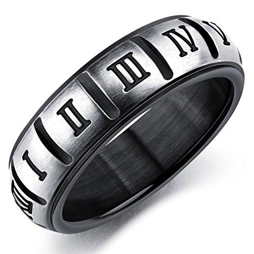 Römische Ziffern Titan Rostfrei Ring Moderne Einzigartiger Liebespaare Fingerring