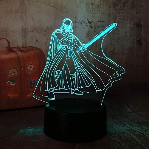 Light D Illusion 3D 3D Rvb Led Night Light Cool Star Wars Darth Vader 7 Color...