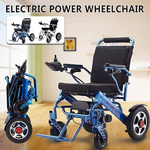 51M4kHDifPL - ZXCASD La Silla De Ruedas Eléctrica Más Fuerte Batería Litio De Cuatro Motores 24 Kg Ancianos Discapacitados Scooter Plegable Portátil Marco De Aluminio