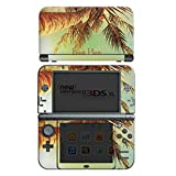 Nintendo New 3DS XL Case Skin Sticker aus Vinyl-Folie Aufkleber Beach Please Urlaub Strand Palmen