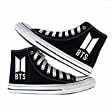 JHion BTS Bangtanboys Fans Canvas Schuhe Freizeitschuhe Teenager Schuhe Turnschuhe Espadrilles Schwarz Herren 42