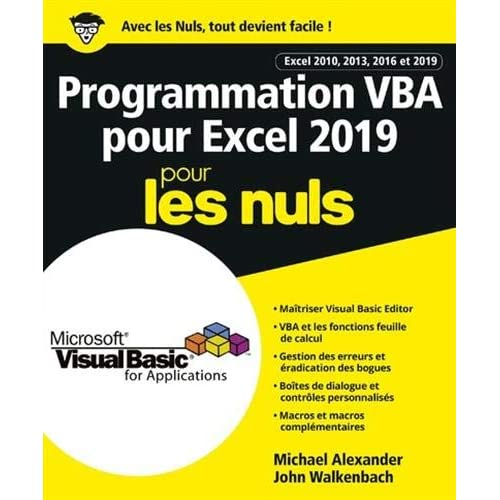 Programmation VBA pour Excel 2019 Pour les Nuls