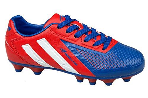 GIBRA® Homme Chaussures de football, rouge/bleu, Taille 41–46 Multicolore - Rot/Blau