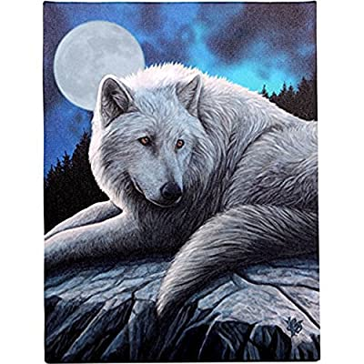 Guardian Of the North - Fantastic Wolf Design by Artist Lisa Parker - Canvas Picture on Frame Wall Plaque / Wall Art - cheap UK canvas store.