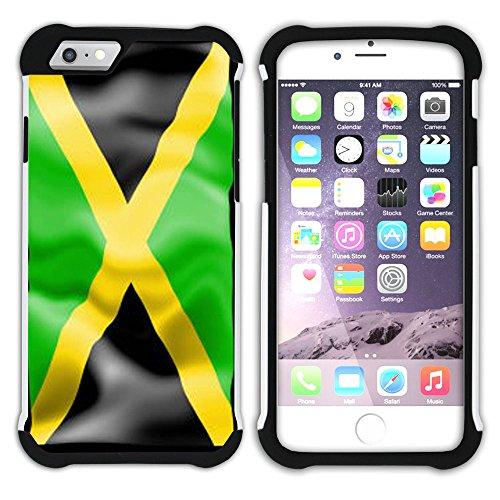 Graphic4You Jamaika Jamaikanisch Flagge Hart + Weiche Kratzfeste Hülle Case Schale Tasche Schutzhülle für Apple iPhone 6 Plus / 6S Plus Design #7