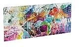 Cabecero Cama PVC Impresión Digital   Ciudad Colorida 150 x 60 cm   Cabecero Original y Económico