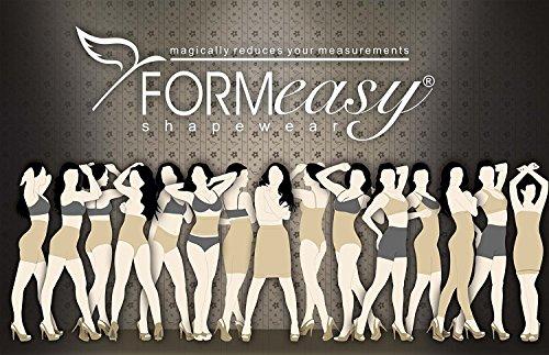 Formeasy Damen Shapewear mit eigenem BH tragen, Taillenformer mit Bein, stark formende Unterwäsche mit Bauchweg Effekt - Miederbody Figurformender Body Shaper Schwarz