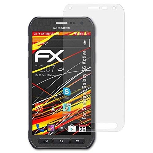 atFolix Schutzfolie kompatibel mit Samsung Galaxy S6 Active Bildschirmschutzfolie, HD-Entspiegelung FX Folie (3X)