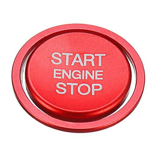 Turspit Auto Motor Start Stopp Knopf Schalter Abdeckung für Masse ersetzen (ROT) -
