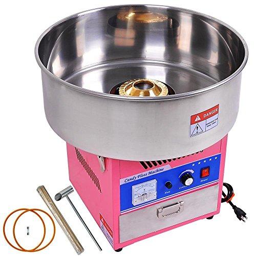 FOBUY Zuckerwatte maschine Zucker Rosa Profi Edelstahl Zuckerwatte Maschine für Zuhause 1050W Elektrische Zuckerwatte gerät (Pink)
