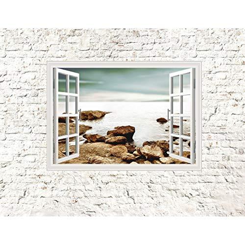 Fototapeten Fenster zum Meer 352 x 250 cm Vlies Wand Tapete Wohnzimmer Schlafzimmer Büro Flur...