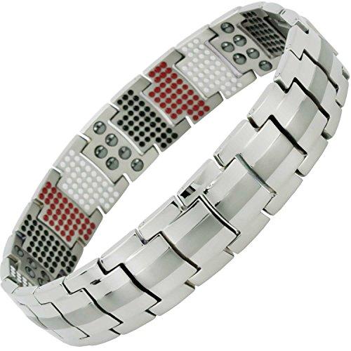 Herren Magnettherapie Armband alle größen Armband Titan für Arthritis Geburtstag Geschenke für Herren Golf Geschenke Heilung Armband für Herren 4in 1-st600 20 cm / 7.9 in