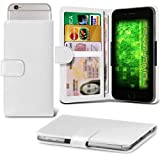 Fone-Case (White) Allview P6 Plus Case Clamp Style Wallet