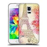 Head Case Designs Durch Die Bäume Ich Träume Von Paris Soft Gel Hülle für Samsung Galaxy S5 Mini
