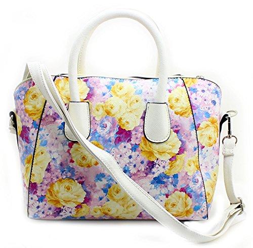 Lilly & Jane, Borsa a tracolla donna multicolore Lilac / White Medium Lilac Floral