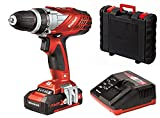 Einhell Perceuse visseuse sans fil sur batterie TE-CD 18 Li Power X-Change (Li-lon, 18 V,1500 mAh, 2 vitesses,  48 Nm,Mandrin 10mm, Eclairage LED, Livré en coffret avec batterie 1.5 Ah et chargeur)