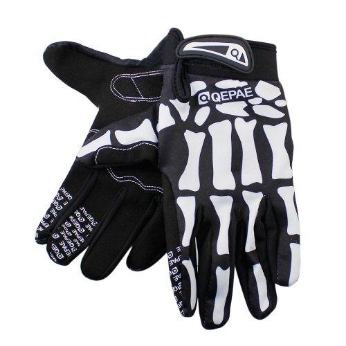 Lerway MTB Fahrrad Voll Finger warmen Radsport Fahrrad Handschuhe Herren Motorrad Vollfingerhandschuhe Herren Fahrradhandschuhe (Schwarz-L) - 5
