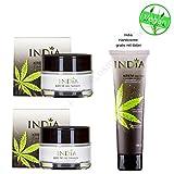 NEU!! Gesichtscreme Doppelpack mit Cannabis Öl in Premiumqualität für Tag und Nacht feuchtigkeitsspendend bei trockener und reifer Haut und bei Neurodermitis Hanfcreme für schöne Haut