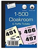 Cloakroom / Raffle Tickets - Book Of 500 In Pack Of 5