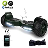 EVERCROSS Hoverboard Challenger Basic Monopattino Elettrico Autobilanciato, Balance Scooter Skateboard, con Due ruote 8.5 in, Bluetooth, APP e LED,Inclusa Batteria e Borsa,15Km/H (Verde)