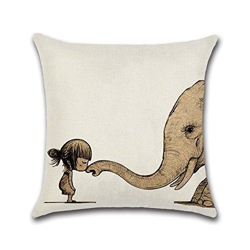 BIGBOBA creativos Combinación Animales Almohada walhai Elefantes Decoración Lino Espacio Almohada Cama...