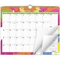Cabbrix noviembre de 2018 - diciembre de 2019 Calendario de pared mensual Wirebound 38x30cm