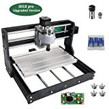 3018 Pro Mini CNC Milling Machine, Mysweety Upgrade Version Wood CNC Router Engraver Kit 3 Axis for PCB Cutting, with Offline Controller + ER11+5mm Extension Rod+10pcs Router Bits
