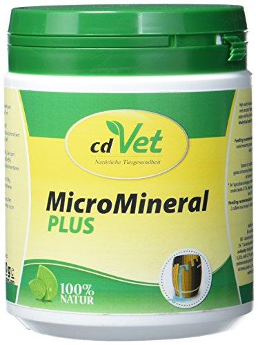 cdVet Naturprodukte MicroMineral plus Hund & Katze 500 g  - extra Zink und Selen - Vitamin, Mineralstoff- und Spurenelementgeber - Magensäurebinder - Schadstoffebinder - Magen-Darm Regulation - -