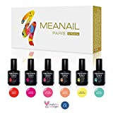 Meanail PARIS • Set de Esmaltes de Uñas Gel UV LED Semipermanente...