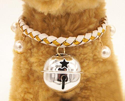 Weihnachten glückliches Geschenk Hundehalsband Halskette mit Glöckchen für Kleine Hunde Welpen Katzen Silberfarbe S - 2