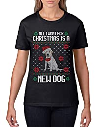 Dog Christmas T Shirt All I want for Christmas is a New DOG T Shirt