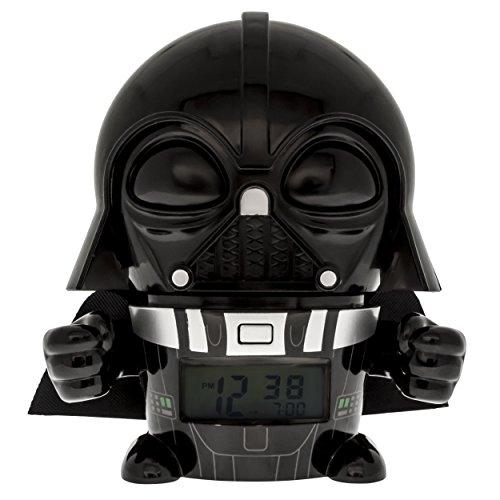 BulbBotz Despertador Infantil Darth Vader, Negro, 8.89x12.7x13.97 cm, 2021364