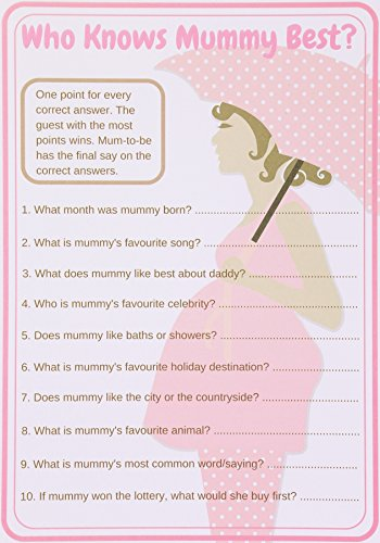 Baby Shower Games Who Knows Mummy Best. Mum-To-Be