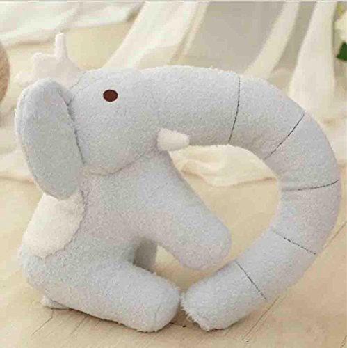 Marcus R Caveggf Weiche Elefant U-Kissen Persönlichkeit Reise Nackenkissen für zu Hause, Reisen, Büro, etc. 【White】 - Elefanten Weichen Kissen