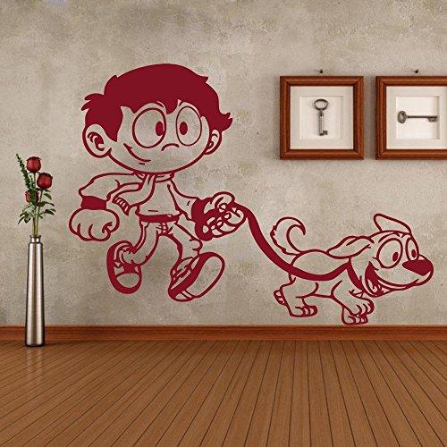 r Boy Maskottchen Design Home Decor abnehmbare Vinyl Papier Aufkleber ()