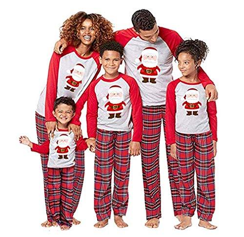 Homebaby Famiglia Pigiama Natale Donna Uomo Neonato Bambino Bambini Manica Lunga Tops + Pantaloni Set Pigiami Famiglia Coordinati Matching Abbigliamento Regalo di Nat