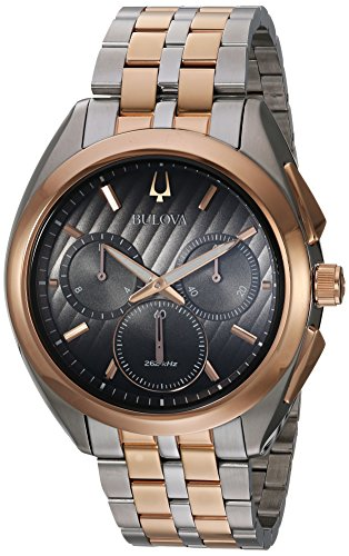 Bulova Men's 'Curv' Quartz Stainless Steel Casual Watch, Color Two Tone (Model: 98A160)