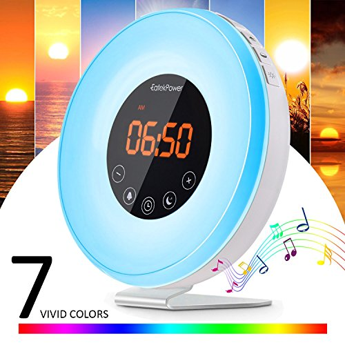 [Nueva Versión] Despertador de Luz,EatekPower Wake Up Light/Touch Control,Luz Despertador con 7...
