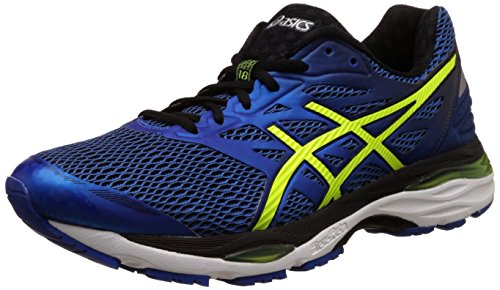 Asics Men'S Gel-Cumulus 18 Imperial, Safety Yellow and Black Running Shoes - 8 UK/India (42.5 EU)(9 US)