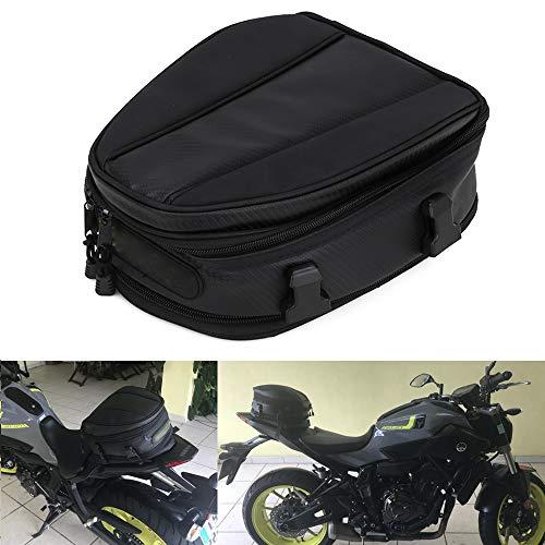 JFG Racing wasserdichte Motorrad-Hecktasche, Gepäcktasche, Satteltasche, Multifunktionstasche, PU-Leder, Fahrradtasche, Sport-Rucksack, 15 Liter