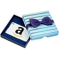 Amazon.de Geschenkgutschein in Geschenkbox (Blaue Streifen) - mit kostenloser Lieferung am nächsten Tag