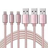 Cuitan 3Pcs 1m USB Ladekabel, USB-Kabel Charging Aufladekabel Kompatibel mit iPhone