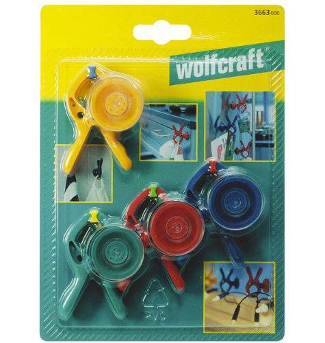 Wolfcraft Microfix S 3663000 - Pinza a molla con ventosa