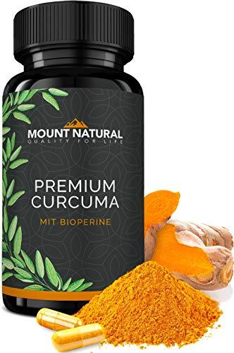Mount Natural Curcuma Kapseln Hochdosiert, Vegan. Kurkuma