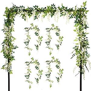 2 Guirnaldas de flores artificiales de seda de 2,0 m para colgar, diseño de hojas verdes de hiedra, de Efivs Arts, para bodas, fiestas, casa, jardín, decoración de pared